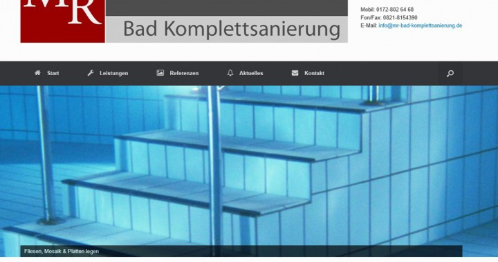 Website im aufbau firma mr bad komplettsanierung augsburg for Bad komplettsanierung