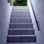 geflieste Außentreppe